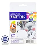Horizon Group USA Assorted Wiggly Eyes, 384 Pack, Sizes 5 mm - 40 mm, Craft Eyes, Googly Eyes, Assorted Colors, Multicolor