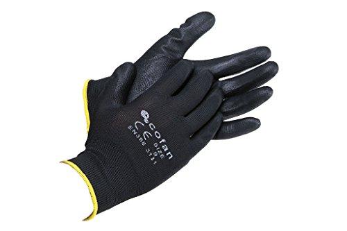 COFAN 11000125 – 7 – Gants polyester, T-7) couleur Noir