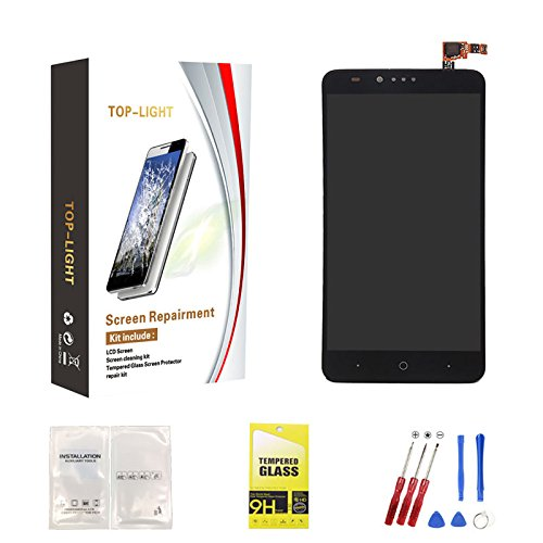 Top-Light Screen Replacement, for ZTE ZMax Pro Z981 LCD Display Touch Screen Digitizer Assembly (Black)
