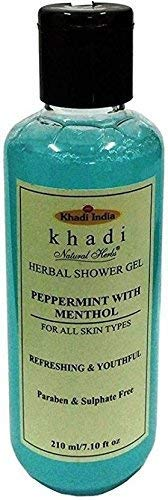 Khadi Herbal Shower Gel Peppermint With Mentol 210Ml (El Embalaje Puede Variar)