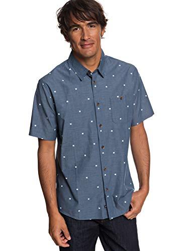 Quiksilver Waterman Men's Tribal Markings Ss Shirt, Orion Blue, L