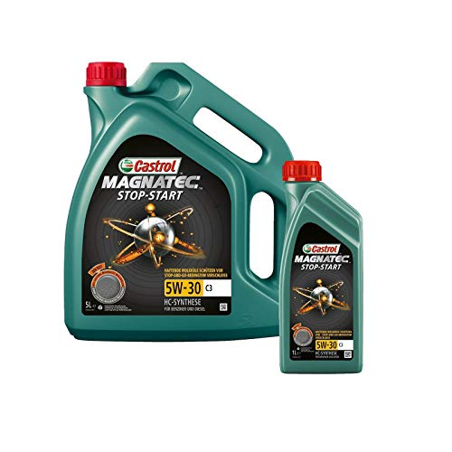 Motorenöl 5W-30 Magnatec Stop Start C3 [6 L] von Castrol (SET159A5C6L) Öl Schmierung Motorenöl