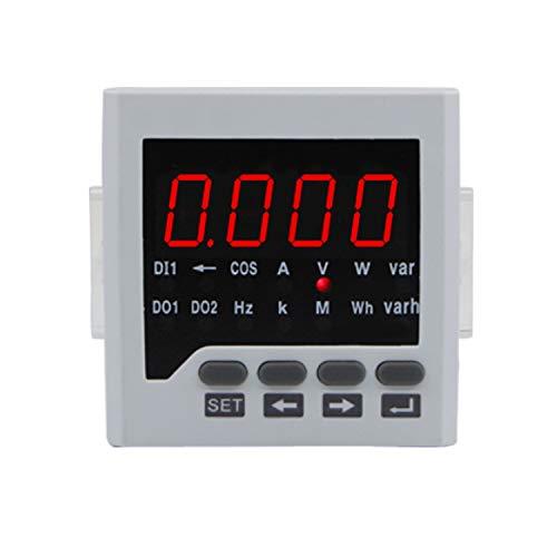 HEQIE-YONGP Voltímetro Digital RH-D61 72 * 72MM Amperímetro AC analógico Inteligente Electricidad Autómetro Monitor de energía Medidor Multifuncional Mostrar frecuencia de Voltaje