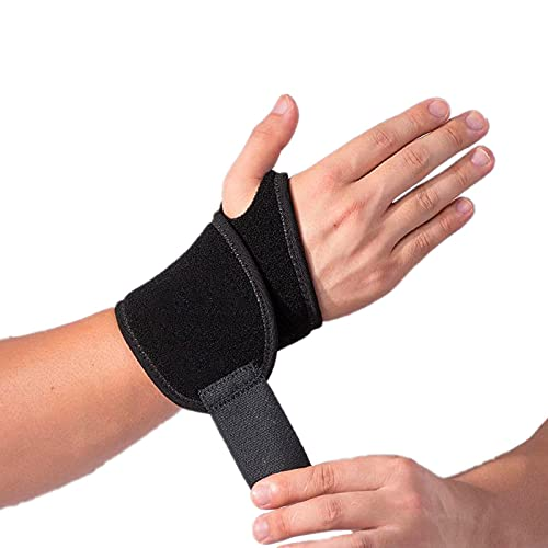 2 Pack Adjustable Sport Wrist Brace, Wrist Support, Wrist Wrap, Wrist Strap, Hand Support, Carpal Tunnel Brace for Fitness, Arthritis & Tendinitis Pain Relief - Suitable for Both Right and Left Hands