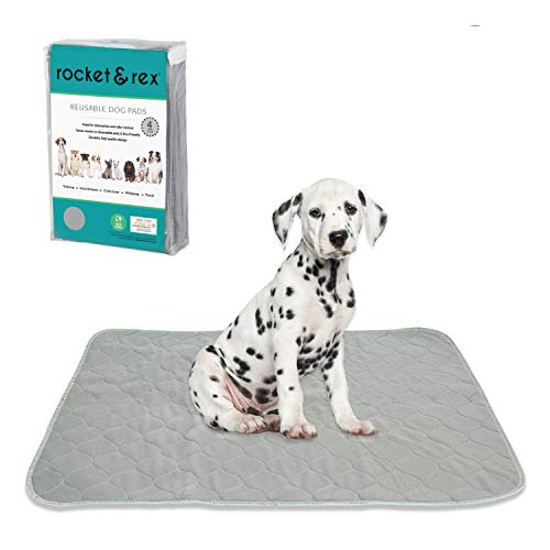 rocket & rex Washable Pee Pads for Dogs | Reusable Puppy Pads and Piddle Pads for Dogs | Waterproof, Absorbent, Easy Cleanup | Tons of Uses in Home | Reduces Waste | Small - Medium Breeds