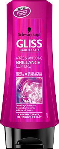 Gliss - Apres-Shampooing - Brillance Lumière - Flacon de 200 ml