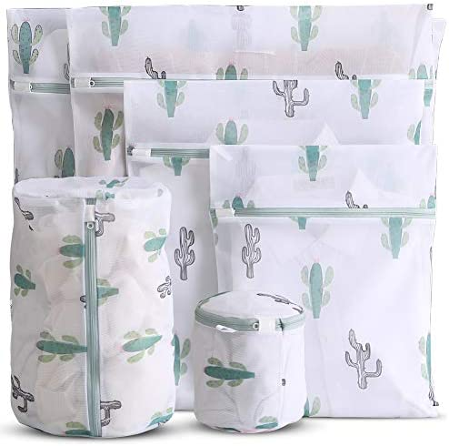 WestonBasics 6 Pcs Mesh Laundry Bags for Delicates with Cute Prints Travel Storage Organizer product image