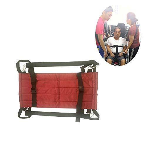 ZYHJAMA Patientenlift Treppenrutschentransfer Notevakuierungsstuhl Rollstuhl Sicherheitsgurt Hebeband Rutschtransferplatte für ältere Menschen, bettlägerig,