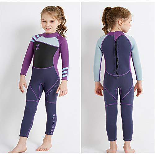 BABIFIS Kinder Eendelig Volledig Lengte Nat Pak 1-9 Jaar Oud/100CM- 130CM Jongens En Meisjes Badpak, UV Bescherming Zwemkleding