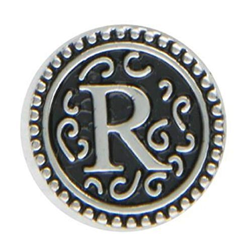 Ganz Jewel La La Snap Button for Jewelry, Initial R (ER33807)