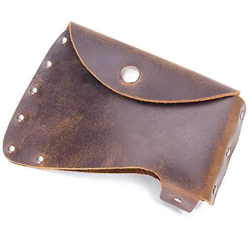 RingSun Hatchet Sheath Leather Axe Holster Hatchet Cover Sheath Axe Holster for 15 in Belts RS12