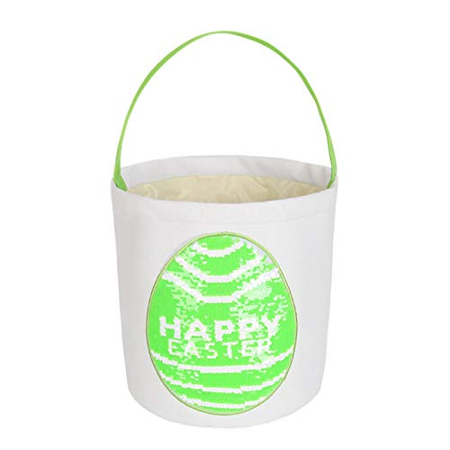 Cesta De Huevos con Estampado De Pascua | Bolso Ligero del Conejito, Bolso del Cubo De Pascua, Cesta Impresa del Huevo De Pascua
