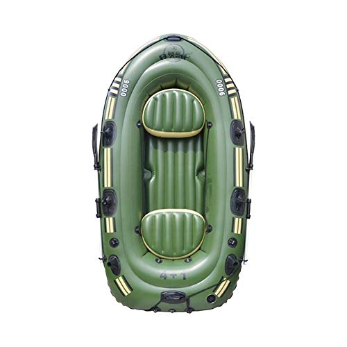 Inflatable Boat Set, Inflatable Kayak Fishing Boat, Blow up Drifting Diving Boat with Paddle and Foot Pump and Safety Rope and Other Accessories
