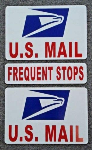 Flexible Magnets 2 U S Mail Magnetic Signs USPS 8 12 Plus 1 Frequent Stops 3x12 product image