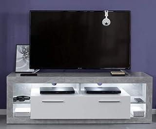 Trendteam 182685035 Mueble Decoración de Madera Blanco 150 x 48 x 160 cm