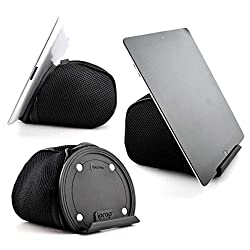 iProp tablet holder is bean bag lap pillow for holding Kindle e-readers, and iPad tablets.