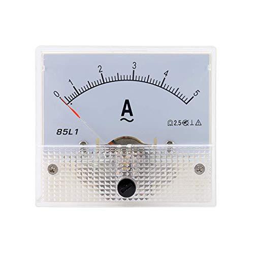 ZHOUMO 1-50A 85L1 AC Panel Meter Amperemeter Analog Panel Amperemeter Zifferblatt Stromanzeige Zeiger Amperemeter (5A)