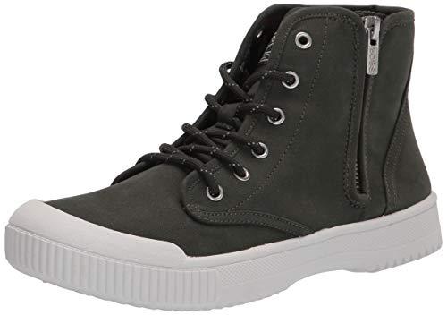 Skechers womens Bootie Sneaker, Olive, 7.5 US