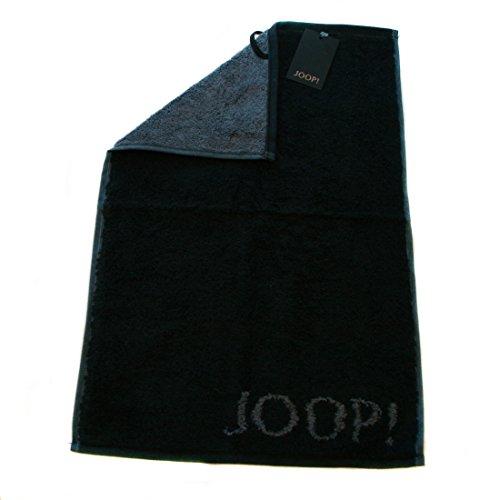 Joop! 1600 Classic Doubleface Gästetuch (30 x 50 cm, schwarz 90) 3er Set