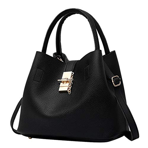 DZTZ Handbags for Women Women's Shoulder Bags PU Leather Hobo Handbags Top-Handle Purse for Ladies (Black)