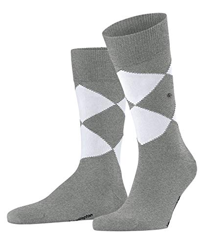 Burlington Calcetines orgánicos Argyle para hombre. gris (Light Grey 3400) 40-46