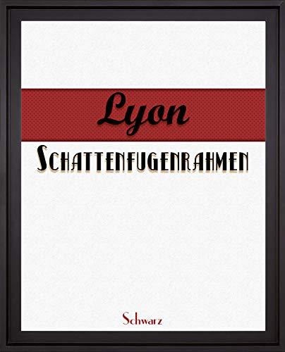 Homedeco-24 Lyon Schattenfugenrahmen 50x70 cm in Schwarz ohne Verglasung ideal für Canvas Leinwand Bilder Farbwahl
