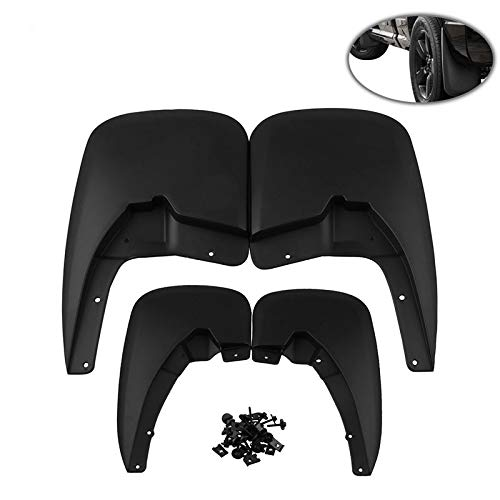MeterMall Auto For 4pcs/set Mud Guards Splash Guards for Dodge Ram Mud Flaps 2009-2018