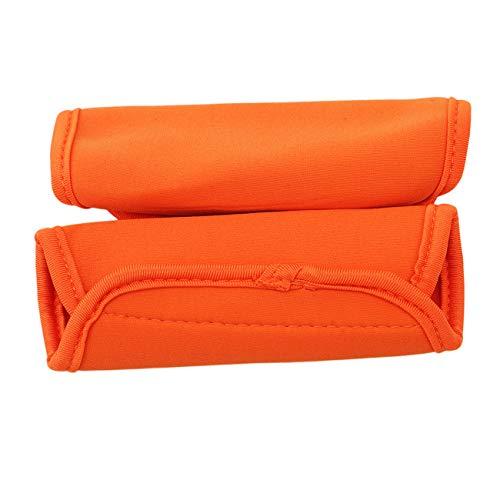 Bigsweety 2pcs bébé Poussette accoudoirs Guidon poignée de Protection Housse de Transport accoudoir Manches Accessoires (Orange)
