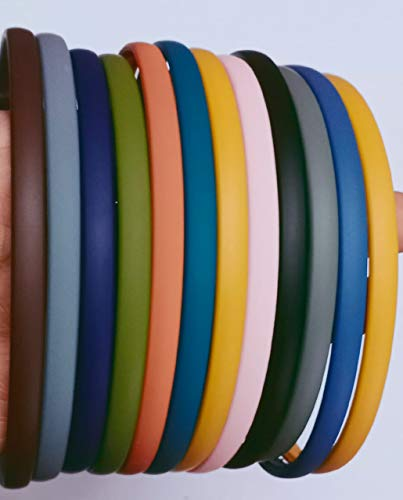 S R SELECTION Best Plastic Hairband for Girls & Women's (Matt Multi-colour) Pack of 10