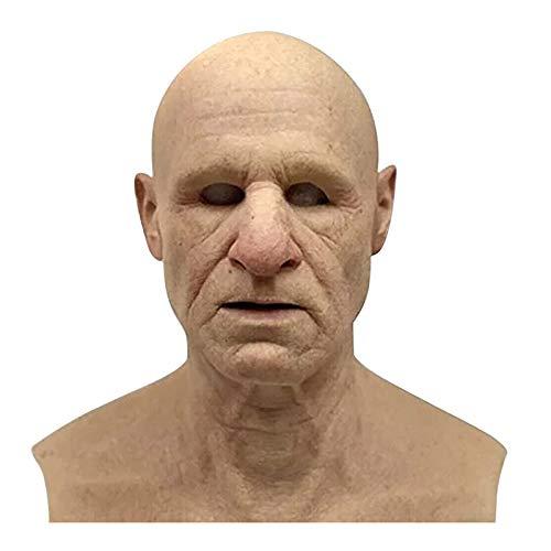 KIDTOY The Elder Man Cosplay Latex Headgear for Halloween Costume Party