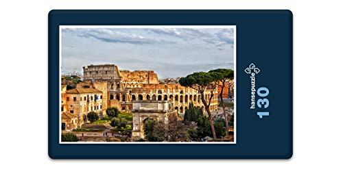 hansepuzzle 61625 Reisen - Forum Romanum, 130 Teile in hochwertiger Kartonbox, Puzzle-Teile in wiederverschliessbarem Beutel.