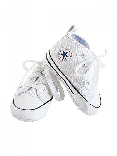 Converse–Sneaker Leinwand weiß Baby Jungen, Weiß - weiß - Größe: 3 UK