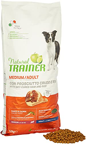 Natural Trainer Cibo per Cani Medium Adult Prosciutto Crudo 12kg