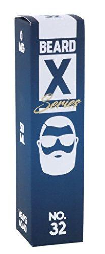 Beard Vape No. X-Series-50 ml-Shake'n Vape Liquids-0 mg Nikotin-befüllbar mit Nikotinshots/Base (No.32-feine Waffel+Zimt+Honig, 60VG/40PG)