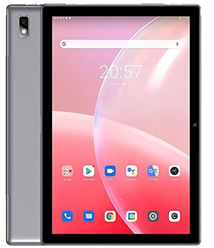 Blackview Tab 9 10.1'' Android 10 Tablet FHD+ Pantalla, 1.8GHz Octa Core 4GB RAM+64GB ROM, 7480mAh Batería, Dual SIM 4G LTE+WiFi+Teléfono Llamada, 13MP+5MP Cámara, Altavoz Dual, GPS Bluetooth Gris
