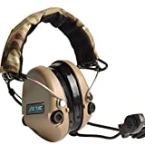 ZTAC Element Airsoft Z111 Tactical Military zSordin Official Version Noise Canceling Nylon Plastic Headset with Military Standard Plug(DE)