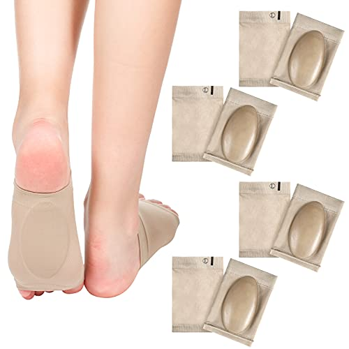 4 Pairs Compression Arch Support Sleeves with Gel Pad Inside Metatarsal Compression Arch Support...