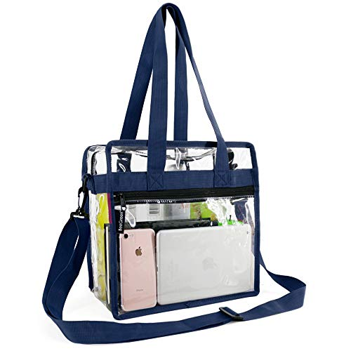 Purchase Clear-Bag-For-Stadium-12 x 12 x 6 with Front Zippered Pocket and Adjustable Shoulder Strap ...