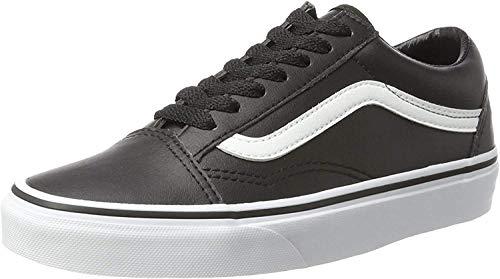Vans Unisex-Erwachsene Old Skool Leather Sneaker, Schwarz (Classic Tumble/Black/True White), 42.5 EU