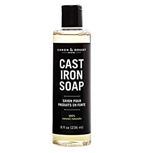CAST IRON CLEANING SOAP | Made using traditional soap making methods and free of sulfates, phosphates, parabens & petrochemicals! Gently cleans and maintains the natural seasoning on cast iron skillets, pans, woks & grills. 100% NATURAL & FOOD CONTAC...