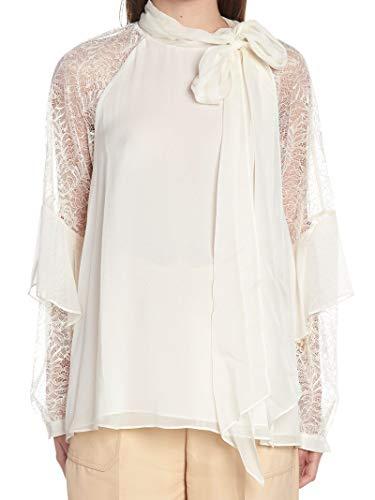 Luxury Fashion | Diane Von Furstenberg Dames 12542DVFIVORY Wit Zijde Blouses | Seizoen Outlet