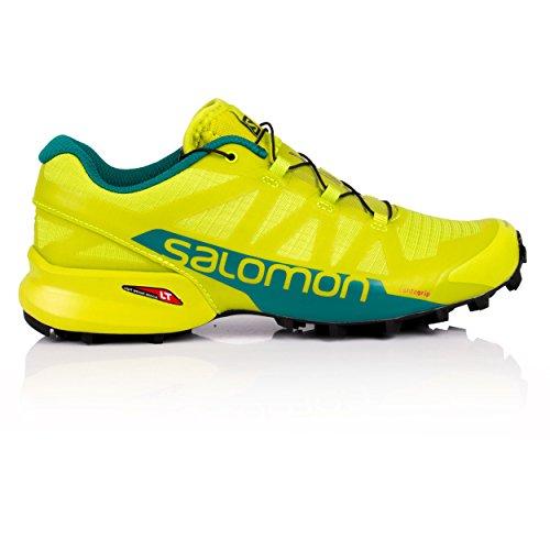 Salomon Speedcross Pro 2, Zapatillas de Trail Running Hombre, Verde (Acid Lime/Deep Lake/Black 000), 45 1/3 EU