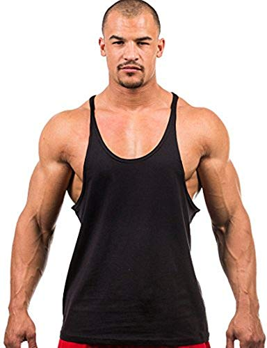 Iwearit Y-Back Muscle Tanktop L-Blk Made in USA