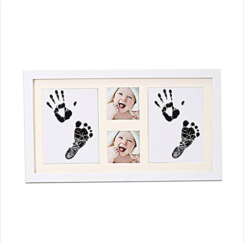 Kit cadre photo empreinte de main et empreinte béb Bébé mains et des pieds Impressions d'encre Foot Prints et Pied amour profond bébé main Prints Mémorial Cadre en bois immortaliser vos souvenirs