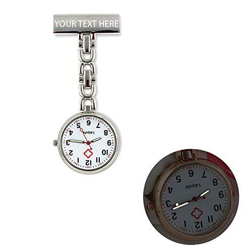 Personalisierte gravierte Krankenschwester Fob Uhr medizinische Uhr Doktor Taschenuhr Männer Frauen Clip-on hängende leuchtende Uhr benutzerdefinierte Name Geschenk für sie
