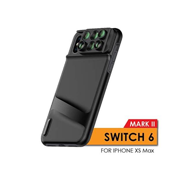 Ztylus Switch 6 MKII for Apple iPhone Xs Max: 6 in 1 Dual Optics Lens System (Fisheye,...