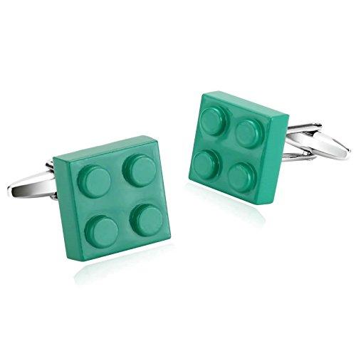 Epinki Mode Herren Edelstahl Manschettenknöpfe Grün Mode 4 Bausteine 1 Paare Manschetten Knöpfe