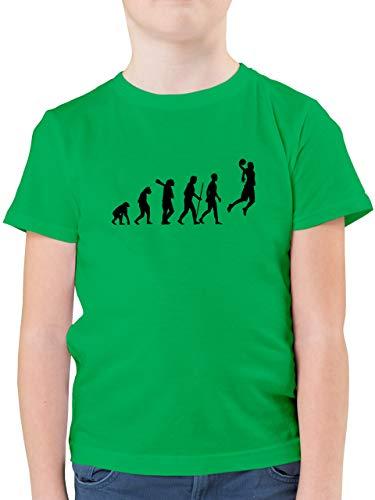 Evolution Kind - Basketball Evolution - 164 (14/15 Jahre) - Grün - F130K - Kinder Tshirts und T-Shirt für Jungen