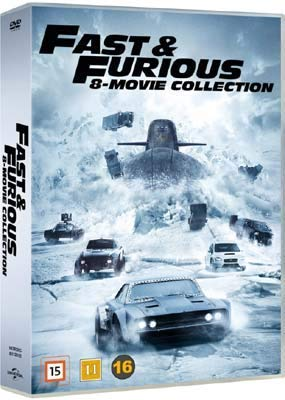 Fast & Furious Collection - 8-DVD Set ( The Fast and the Furious / 2 Fast 2 Furious / The Fast and the Furious: Tokyo Drift / Fast & Furious 4 / Fast Five / Fur [ Dänische Import ]