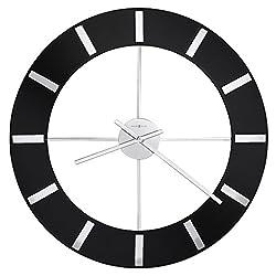 Howard Miller Onyx Wall Clock 625-602 – High-Gloss Black Finish with Quartz Movement